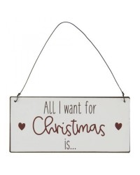 Табличка All I want for Christmas	15х7 см