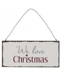 Табличка We love Christmas	15х7 см