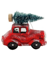 Елочная игрушка Car with Tree