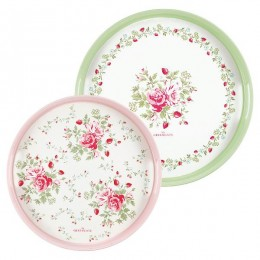 Набор подносов Mary white round set of 2 pcs.