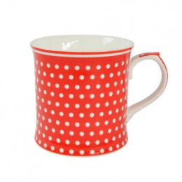 Кружка Polka dots red 380 мл