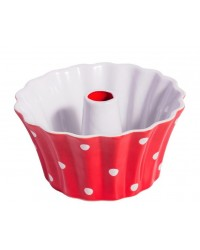 Форма для выпечки Red round small with dots 20 см